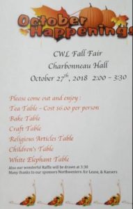 CWL Fall Fair @ Charbonneau Hall